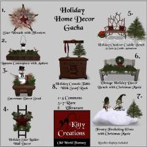 PIC Holiday Home Decor Gacha - Kitty Creations