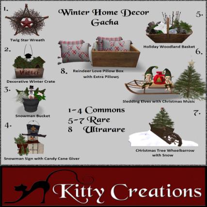PIC Winter Home Decor Gacha - Kitty Creations