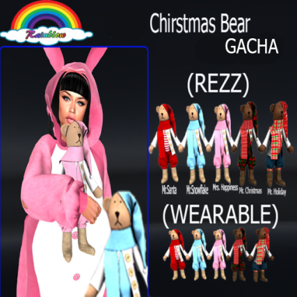 ((RBS)) Chirstmas Bear (GACHA)