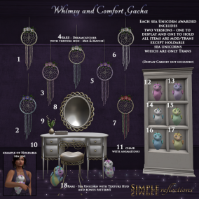 Simple Reflections Whimsy and Comfort Gacha key