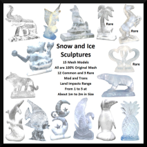 Snow and Ice Sculptures Gatcha Ad - Home Whimsy