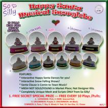 So Silly Happy Santa Musical Snow Globe Gacha Ad Key 01