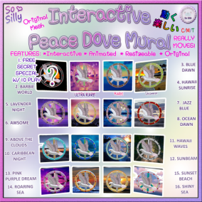 So Silly Interactive Peace Dove Mural Gacha Ad Key SO SILLY