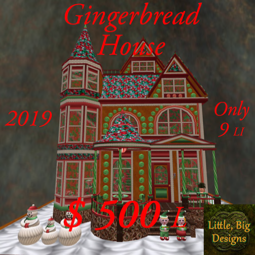 2019 Gingerbread House poster 500L