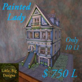 219 Painted Lady Blue LI 10 poster