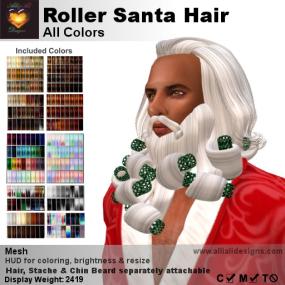 A&A Roller Santa Hair All Colors-pic