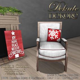 Adele Christmas Chair