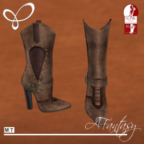 Afantasy HIGH SLINK Brown Womens Western Boots