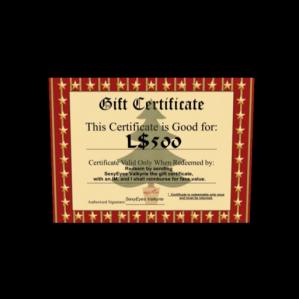 AFantasy - L$500 gift card Stocking Stuffer