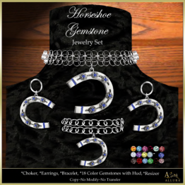Allura Horseshoe Gemstone Jewelry Set Ad