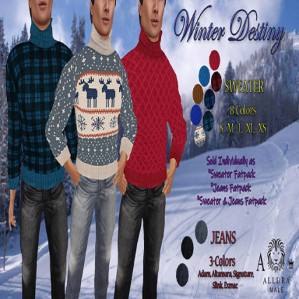 Allura Male Winter Destiny Outfit Ad 512