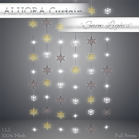 ALUORA Strings Curtain _Snow Lights_ - Full Perms