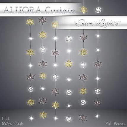 ALUORA Strings Curtain _Snow Lights_ - Full Perms