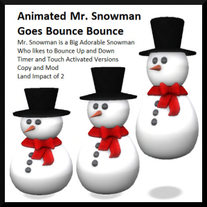 Animated Mr. Snowman Goes Bounce Bounce Ad