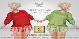 [Ari-Pari] Pretty In Plaid Holiday Set