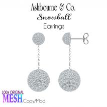 Asbourne & Co - snowball-drop-earrings100