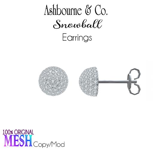 Asbourne & Co - snowball-earrings100