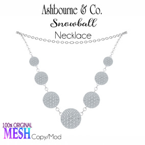 Asbourne & Co - snowball-necklace100