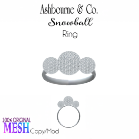 Asbourne & Co - snowball-ring100
