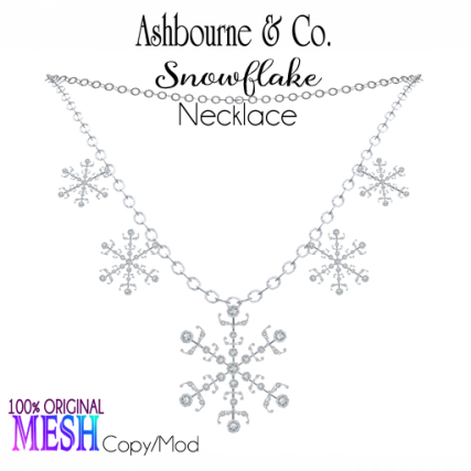 Asbourne & Co - snowflake-necklace100