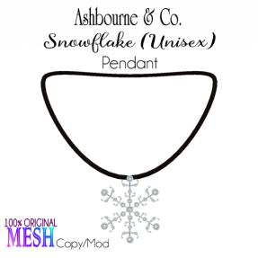 Asbourne & Co - snowflake-pendant