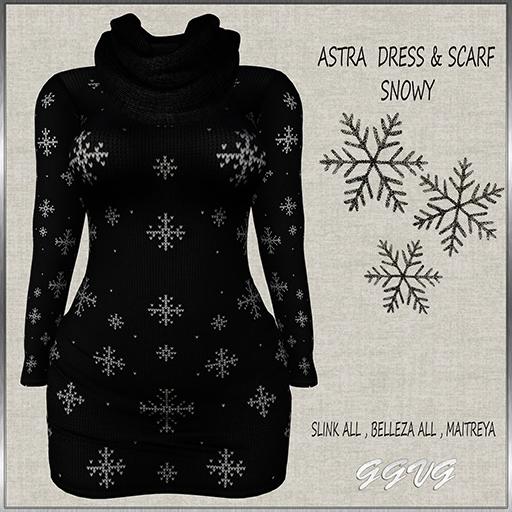 ASTRA DRESS SNOWY