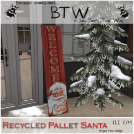 BTW - Recycled Pallet Santa
