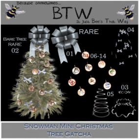 BTW - Snowman Mini Christmas Tree Gatcha AD
