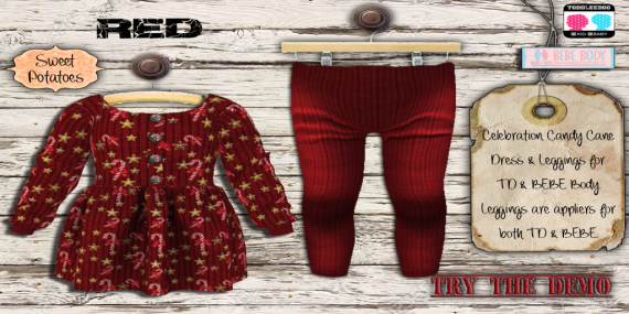 Celebration Candy Cane Outfit_Red