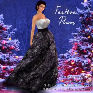 Charisma's Designs Aria Festive Plum PIC
