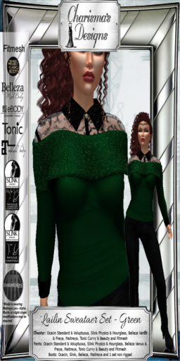 Charisma's Designs Lailin Set Green PIC