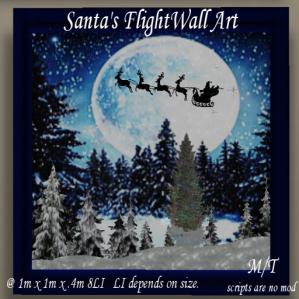 Charisma's Designs Santa's Flight Wall Art PIC