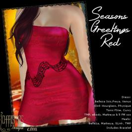 Charisma's Designs Seasons Greetings Mini Red PIC