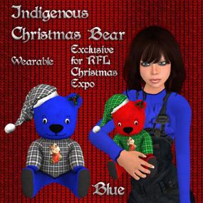 Christmas Bear Blue Pic