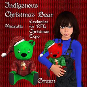 Christmas Bear Green Pic
