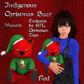 Christmas Bear Red Pic