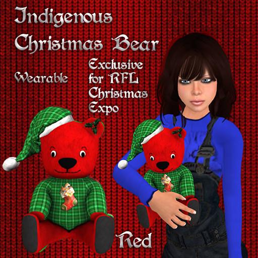 Christmas Bear Red Pic