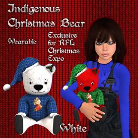 Christmas Bear White Pic