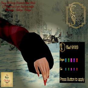 Classy N Sassy Christmas Bow Nails SL Christmas Expo Stocking s