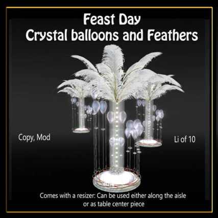 Crystal balloons and feathers -Feast Day_ad (512x512)