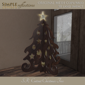cutout christmas tree ad sl 512