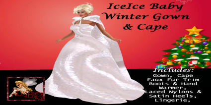 _DBS_ Ladies Gown - IceIce Baby Gown, Cape Esemble