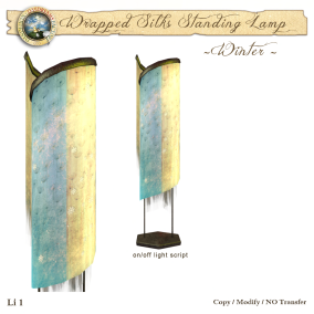 DDDF Wrapped Silk Standing Lamp - Winter