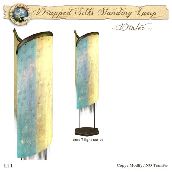 DDDF Wrapped Silk Standing Lamp - Winter