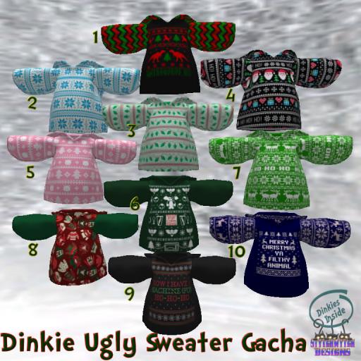 Dinkie Ugly Sweater Gacha Key