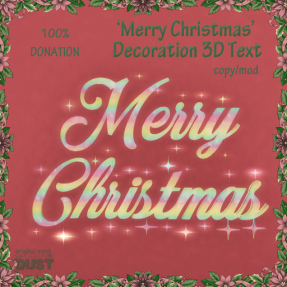 DUST Merry Christmas decoration text - hunt GIFT