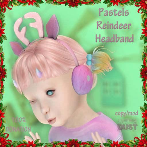 DUST pastels reindeer headband AD