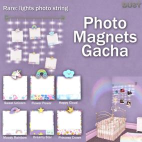 DUST_ photo magnets gacha key
