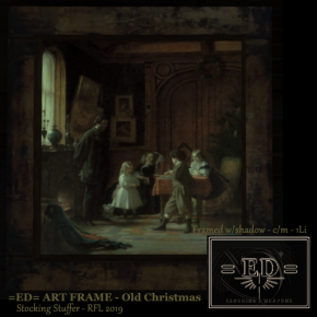 =ED= ART FRAME - (Old Chirstmas) - RFL STOCKING 2019 - AD