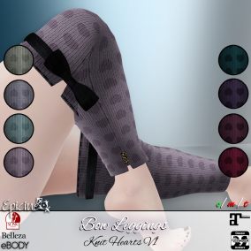Epicine - Bow Leggings - Knit Hearts V1 Ad